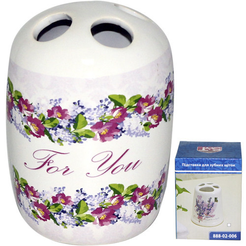 Подставка для зубных щеток Цветочный вальс 7*10 см SNT 888-02-005