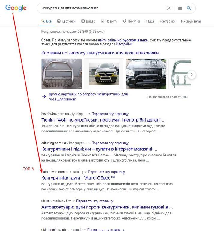 Наполнение сайта автомобильных деталей на русском и украинском языке - Винница 2