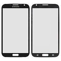 Защитное стекло корпуса для Samsung Galaxy Note 2 N7100, 2.5D, черное, оригинал