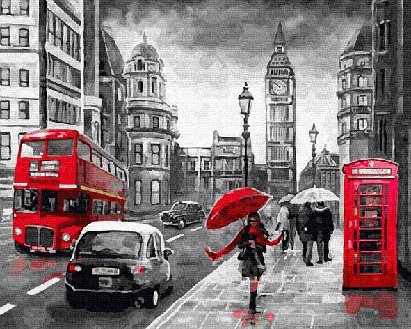 Картина за номерами 40х50см. GX34828 Леді в Лондоні Rainbow, фото 2