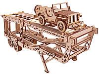 Пазл-конструктор из дерева «Прицеп автовоз» 229 деталей, фото 1