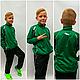 Спортивный костюм зелёный подросток взрослый в стиле Mass производства Италия, фото 7