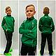 Спортивный костюм зелёный подросток взрослый в стиле Mass производства Италия, фото 8