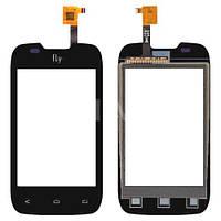 Сенсорный экран Fly IQ431 Glory черный (тачскрин, стекло в сборе), Сенсорний екран Fly IQ431 Glory чорний (тачскрін, скло в зборі)