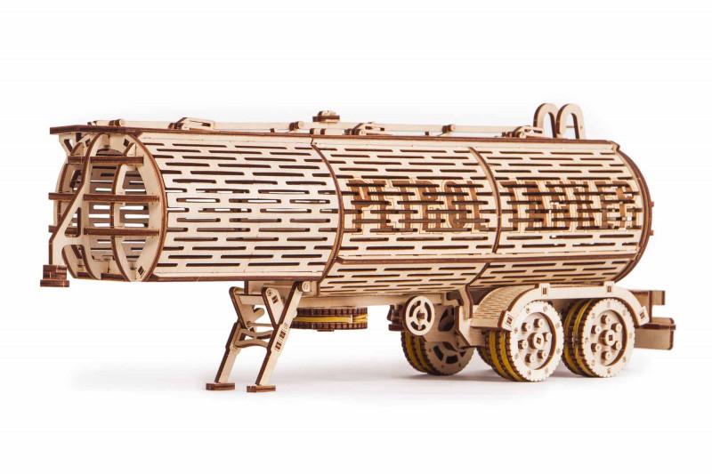 Пазл-конструктор из дерева «Прицеп цистерна» 200 деталей