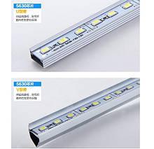 Стрічка світлодіодна 5630 аллюминиевая, на твердій основі, 12V, 72LED