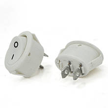 Перемикач ON-OFF KCD1-301, 250VAC / 6A, 2 контакта, White, Q100