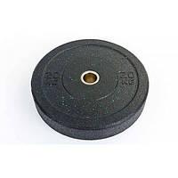 Бамперные диски для кроссфита Bumper Plates из структурной резины RAGGY 20кг