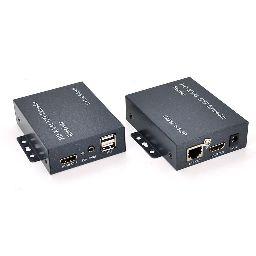 Одноканальний активний подовжувач HDMI сигналу по UTP кабелю. Дальність передачі: до 120 метрів, cat5e / cat6e 1080P / 3D. Управління через USB