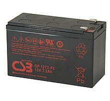 Акумуляторна батарея CSB GP1272F2, 12V 7,2Ah (28W) (151х65х100мм) 2.1кг Q10