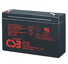 Акумуляторна батарея CSB GP6120, 6V 12Ah (150 x 50 x 95 (100)  Q10