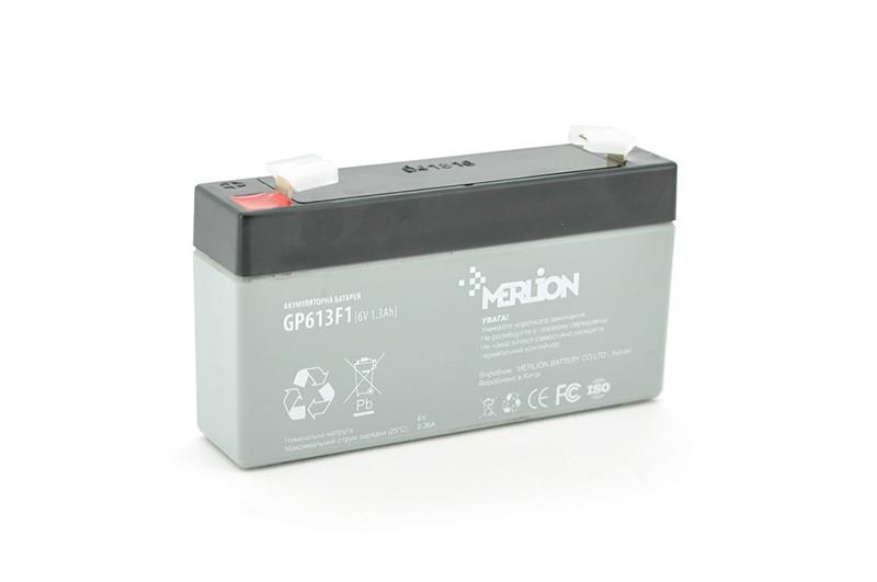 Акумуляторна батарея MERLION AGM GP613F1 6 V 1,3Ah (95 x 25 x 50 (55)) Q40
