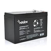 Акумуляторна батарея MERLION AGM GP1272F2B 12 V 7,2 Ah ( 150 x 65 x  95 (100) )  Black Q10