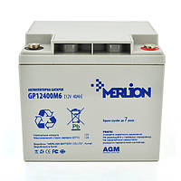 Акумуляторна батарея MERLION AGM GP12400M6 12 V 40 Ah ( 210 x 175 x 196  ) Q1