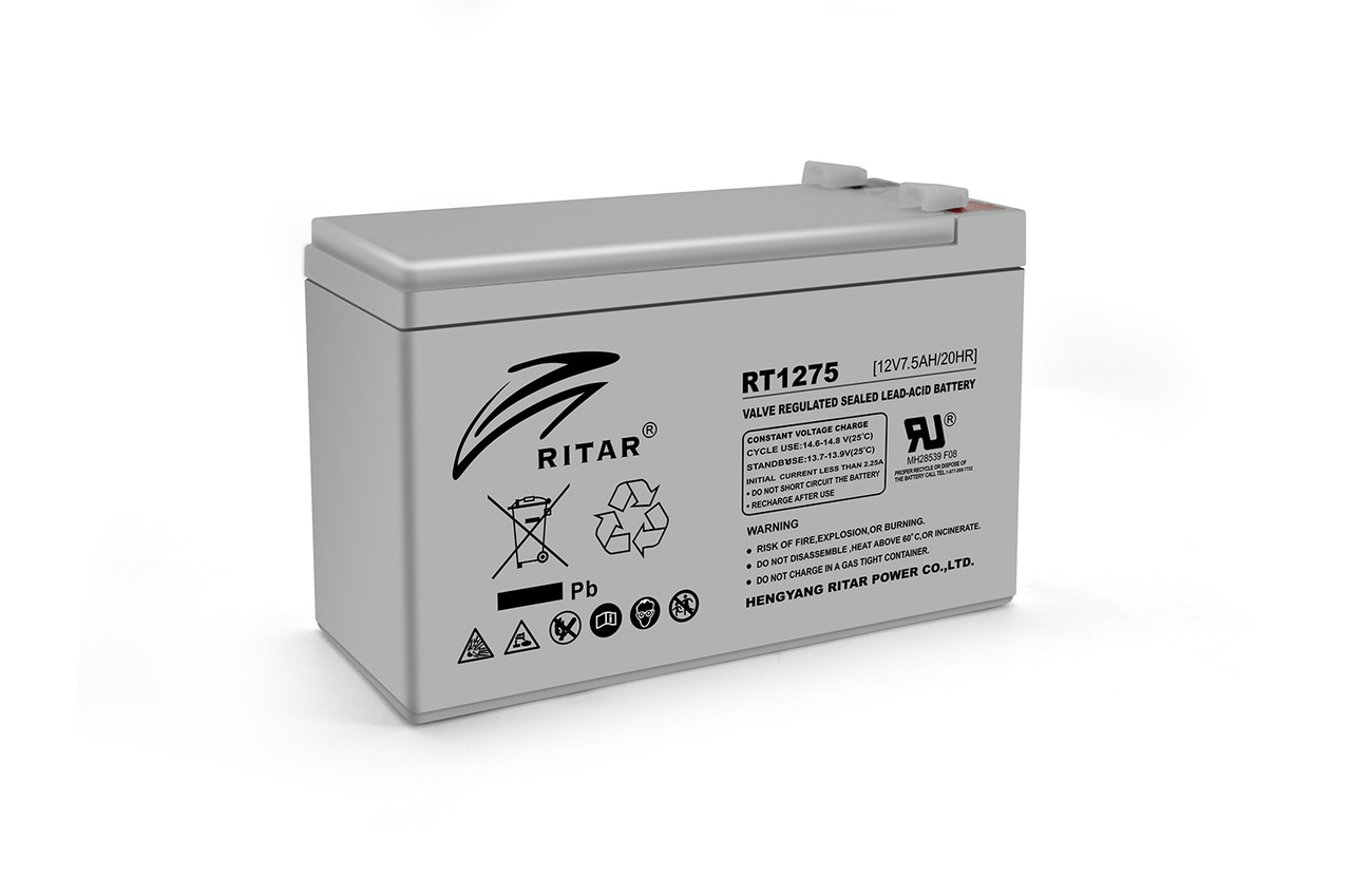 Акумуляторна батарея AGM RITAR RT1275, Gray Case, 12V 7.5Ah ( 151 х 65 х 94  (100) ) Q10