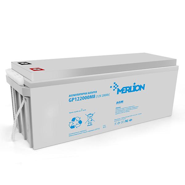 Акумуляторна батарея MERLION AGM GP122000M8 12 V 200 Ah ( 530 х 250 х 277 ) Q1