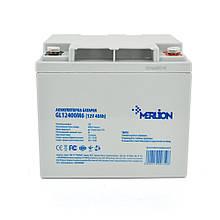 Акумуляторна батарея MERLION GL12400M6 12 V 40 Ah ( 198 x 165 x 170  ) White Q1
