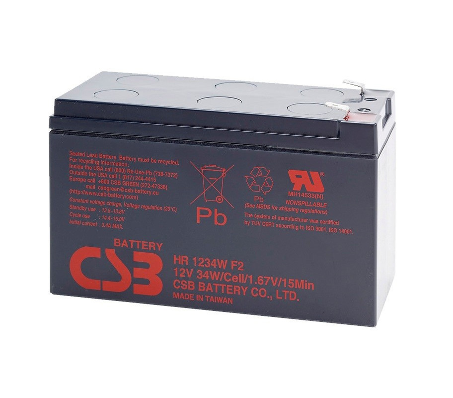 Акумуляторна батарея CSB HR1234WF2, 12V 9Ah (151х65х101мм) Q10