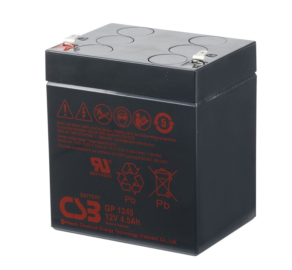 Акумуляторна батарея CSB GP1245, 12V 4.5Ah (90 х70х100 (105))  Q10