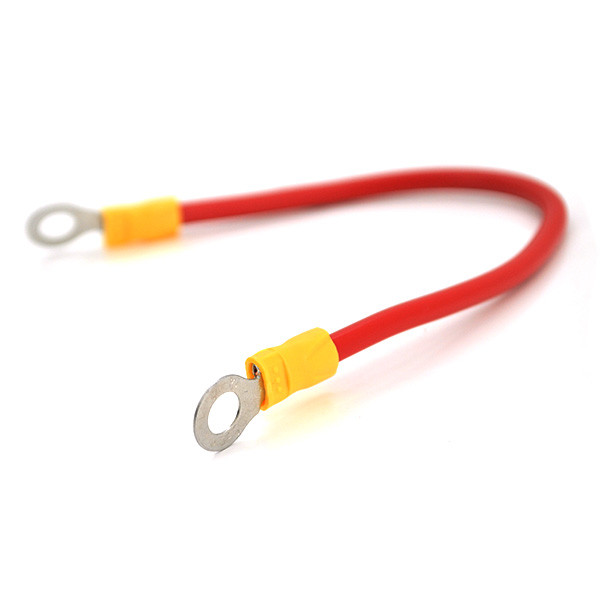 Перемичка (з'єднувач) 200 мм 4 мм2  під болт М6 (6,3 мм внутрішній діаметр) для акумуляторів, ціна за штуку