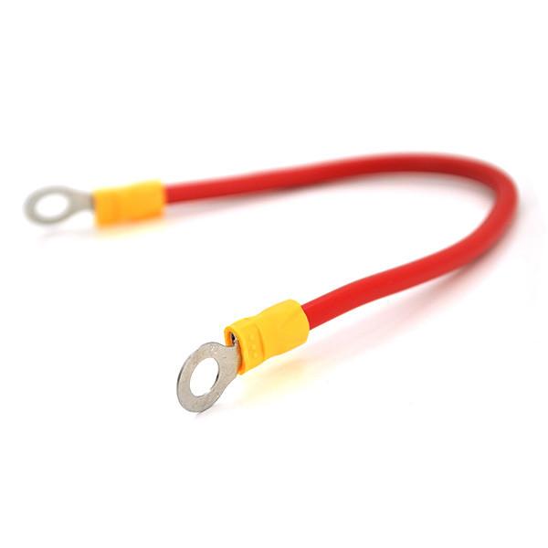 Перемичка (з'єднувач) 200 мм 6 мм2  під болт М6 (6,3 мм внутрішній діаметр) для акумуляторів, ціна за штуку