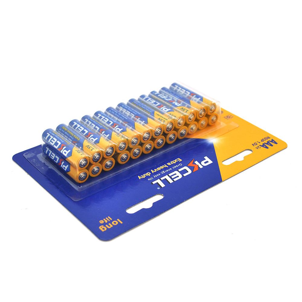 Батарейка сольова PKCELL 1.5V AAA / R03, 24 штуки в блістері ціна за блістер, Q12