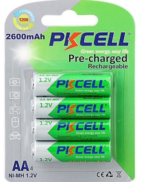 Акумулятор PKCELL 1.2V AA 2600mAh NiMH Already Charged, 4 штуки в блістері ціна за блістер, Q12