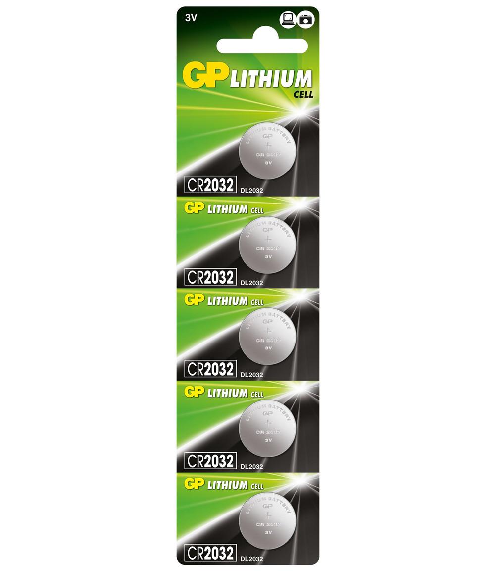 Батарейка літієва GP CR2032-8C5, 5 шт в блістері (упак.100 штук) ціна за блістер
