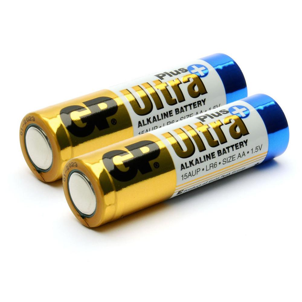 Батарейка GP Ultra Plus 24AUP-2S2, лужна AAA, 2 шт у вакуумній упаковці, ціна за упаковку