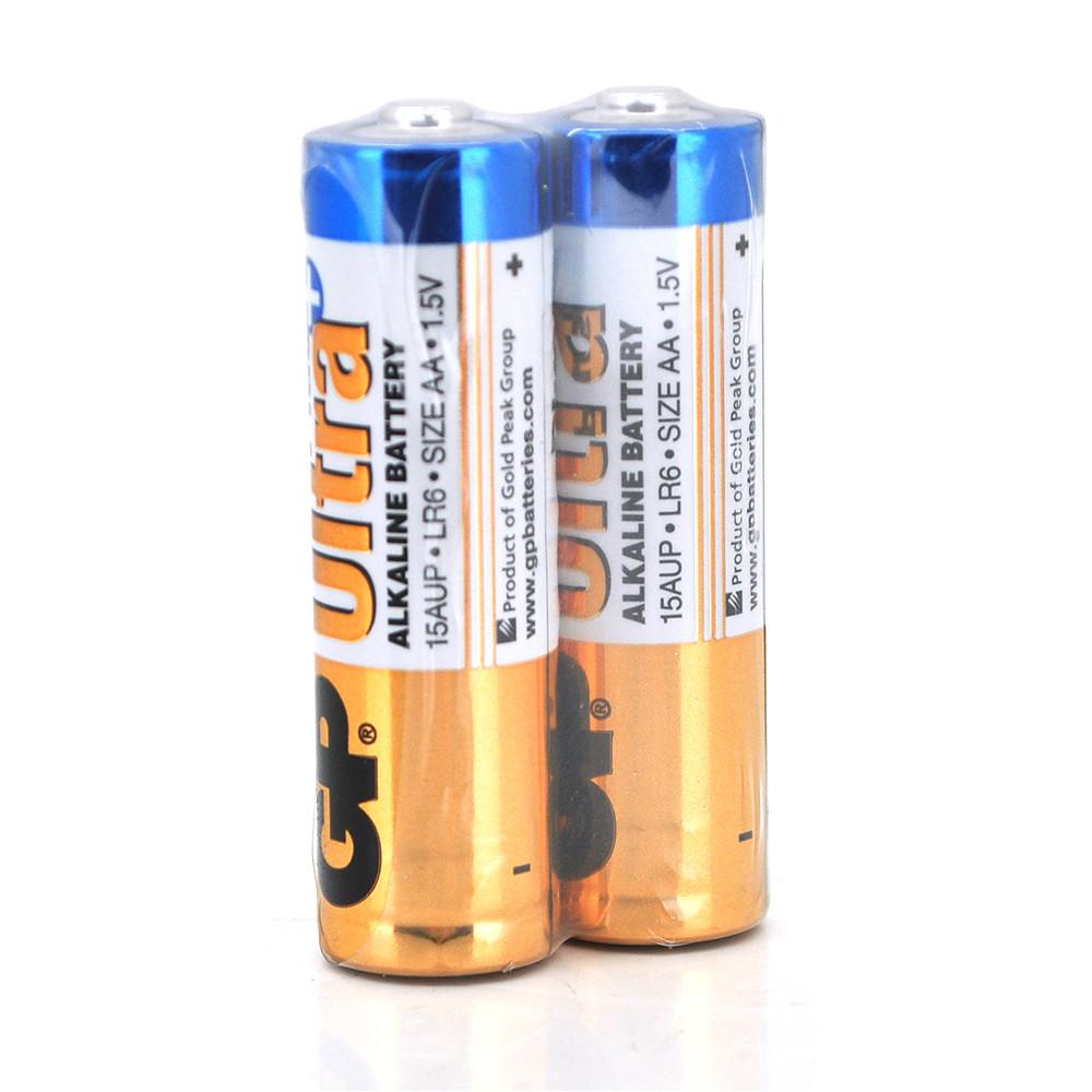 Батарейка GP Ultra Plus 15AUP-2S2, лужна AA, 2 шт у вакуумній упаковці, ціна за упаковку