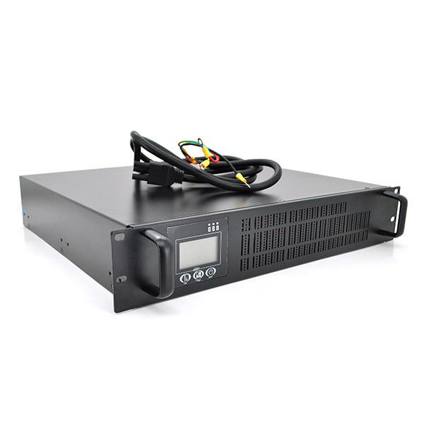 ДБЖ з правильною синусоїдою ONLINE RT-2KL-LCD, RACK 2000VA (1800Вт), 72В, під зовнішній АКБ,  (610*605*220) 13,1 кг (480*420*90)