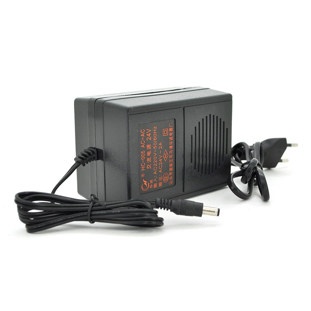 Адаптер трансформаторного типу Input 220 V / Output 24V / 2A
