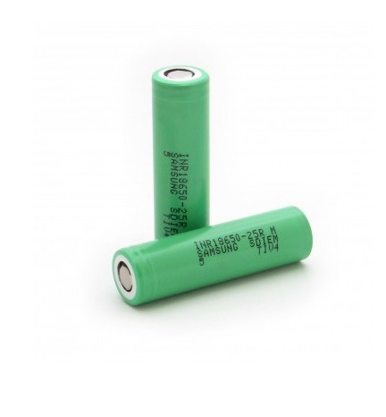 Акумулятор 18650 Li-Ion Samsung INR18650-25R, 2500mAh, 20A, 4.2 / 3.6 / 2.5V, ціна за шт, Green