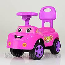 Детская музыкальная  каталка-толокар FLBB-313-8, розовая