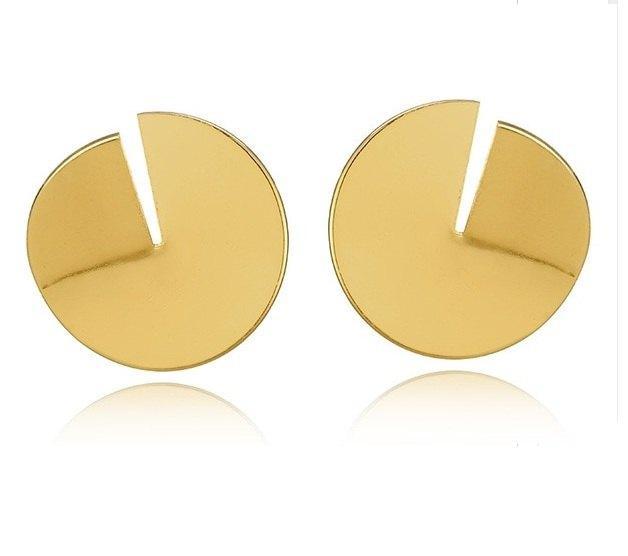 Стильные круглые серьги пластины