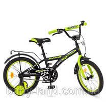 Детский велосипед колеса 18 дюймов PROFI Racer T1837 стальная рама Черный/Салатовый