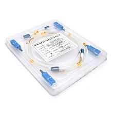 Патчкорд оптичний SC / UPC-LC / UPC 0.9mm 1 м в упаковке по 4 штуки, цiна за штуку