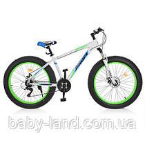 Спортивный велосипед колеса 26 дюймов PROFI EB26HIGHPOWER 2.0 A26.1 Белый/Синий/Зеленый
