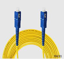 Патчкорд оптичний SC / UPC-SC / UPC 3.0mm 3 м Premium, ціна за 1 шт, Q10