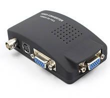 Конвертер BNC (тато) на VGA (мама), Black, Пакет Q25