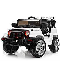 Детский электромобиль Jeep Wrangler M 4148EBLR-1 белый