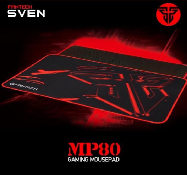 Килимок 800*300 для миші Fantech MP80 тканинний з бічної прошивкою, товщина 3 мм, колір Black, Color Box