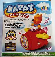 Музыкальна игрушка  винни пух на самолете детская