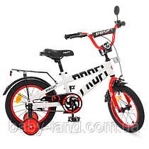 Велосипед детский двухколесный PROFI T14172 Flash 14 дюймов бело-красный