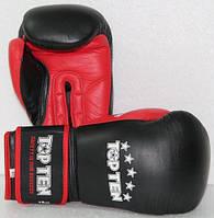 """Боксерские перчатки TopTen """"Sandwich"""" черно-красный 10oz"""