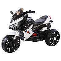 Детский электромобиль мотоцикл трицикл T-7231 White белый с MP3