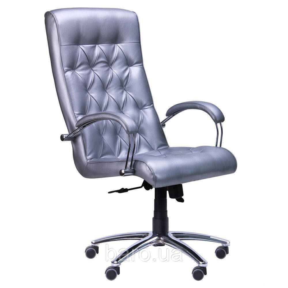 Кресло Бристоль HB Хром Механизм Anyfix Жемчуг-07, серый