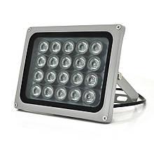 ІК прожектор YOSO 12V 40W, 20LED, IP66, 850нм, кут огляду 60 °, лінза 8мм, дальність до 80м, 180 * 115 * 140мм, BOX