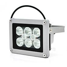 Прожектор спрямований з сутінковим датчиком YOSO 12V 1.2W, 6 + 2LED, IP66, кут огляду 60 °, дальність до 30м, 110 * 86 * 63мм, BOX