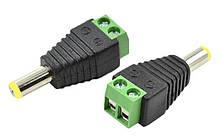 Роз'єм для підключення живлення DC-M (D 5,5x2,1мм) з клемами під кабель (Yellow Plug)